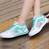 Breathable Net Blue Contrast White Sneakers
