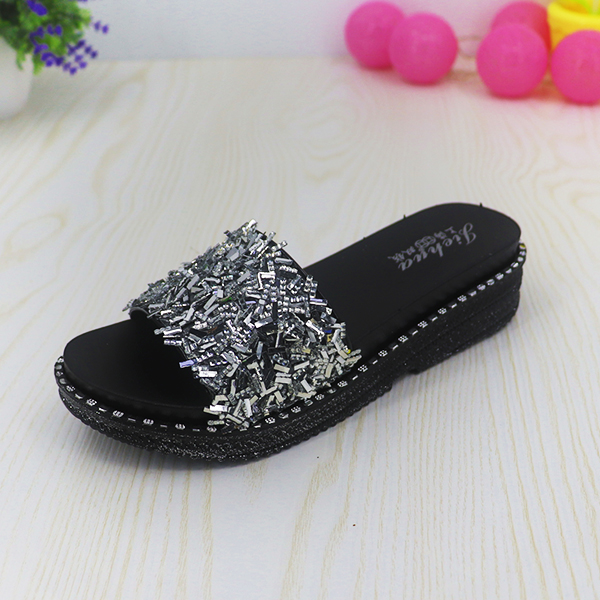 Rivets Party Wear Summer Sandals - Silver