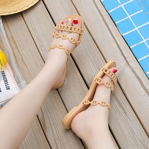 Rope Strappy Flat Wear Women Sandals - Brown