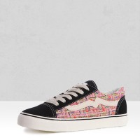 Lace-up Multicolor Quality Flat Sneakers