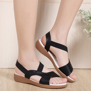 Summer Black Comfortable Flat Sandals