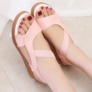 Summer Apricot Comfortable Flat Sandals