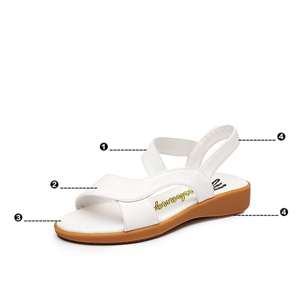 Summer White Comfortable Flat Sandals