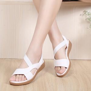 Summer White Comfortable Flat Sandals