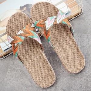 Indoor Flooring Soft Bottom Non-slip Women Sandal - Orange