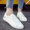 Cut Out Heart Flat Daily Wear Sneakers - Silver