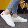 Cut Out Heart Flat Daily Wear Sneakers - Red