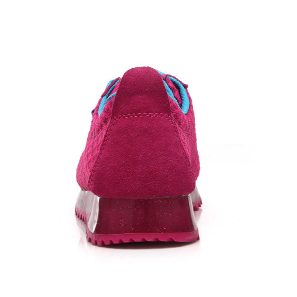 Breathable Net Yarn Sneakers Thick Bottom Sports Shoes Hot Pink