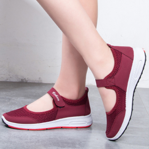 Breathable Sports Casual Sports Sneakers - Burgundy