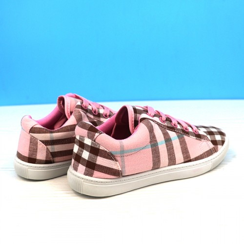 Canvas Checks Print Casual Wear Sneakers - Pink