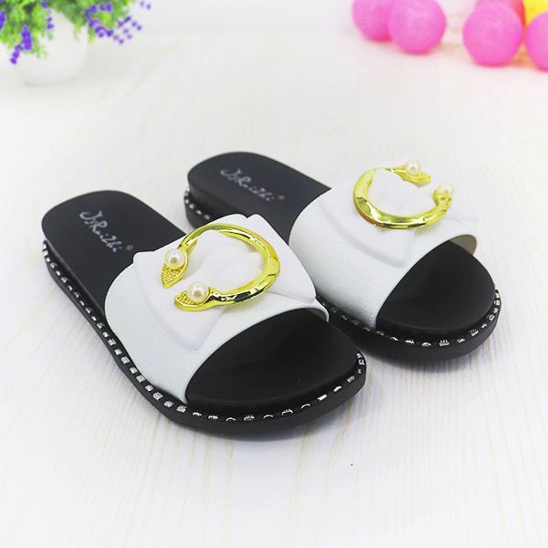 Designers Special Flat Wear Party Sandals - White