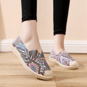 Casual Wear Flat Canvas Pregnant Women Shoes - Multi Color