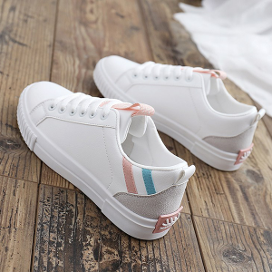 Lace Up Multicolor Flat Bottom Sports Shoes
