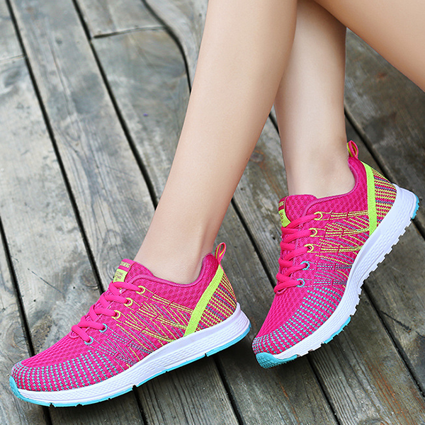 Multicolor Cool Jogging Sportswear Hot Pink Sneakers