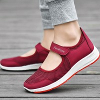 Velcro Breathable Sports Casual Sports Sneakers - Red