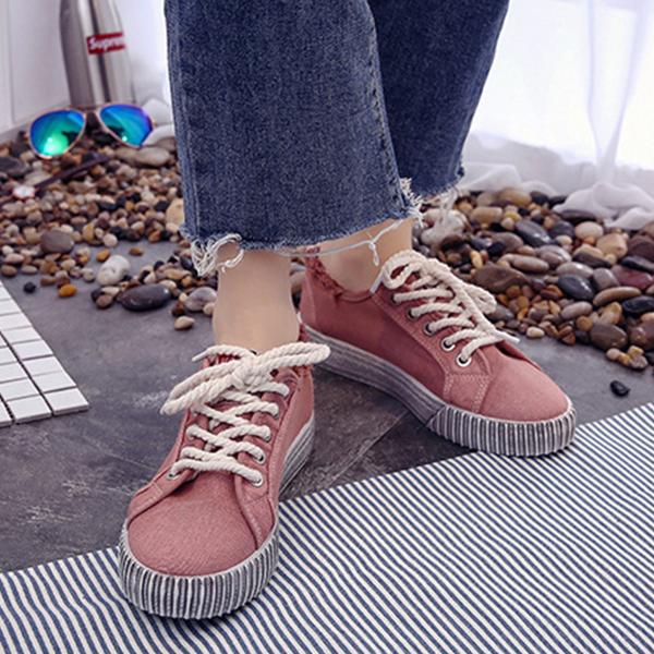 Korean Fashion Canvas Ladies Wild Sneakers Pink