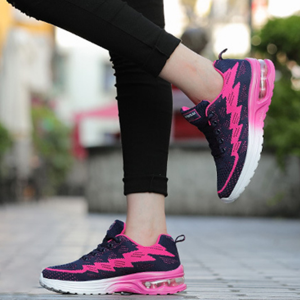 Running Shoes For Women Air Cushion Breathable Hot Pink Sneakers