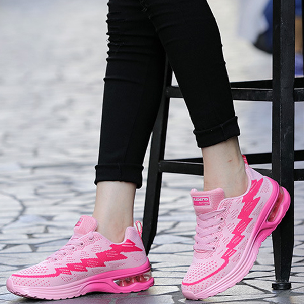 Running Shoes For Women Air Cushion Breathable Pink Sneakers