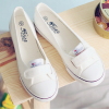 Shallow Mouth Single Strap Flat Shoes - White