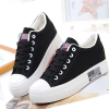 Ladies Sneakers Fashion Casual Canvas Black Shoes