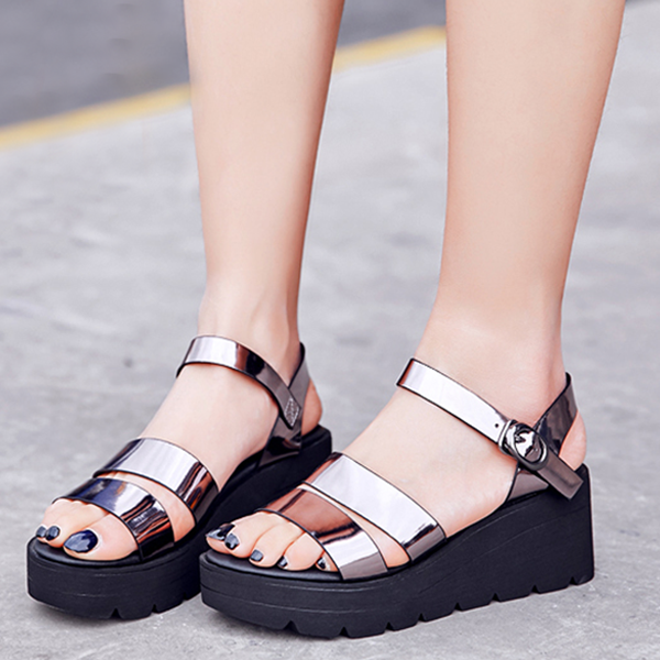 High-quality Summer Silver Sandals Shoes Comfortable Soles
