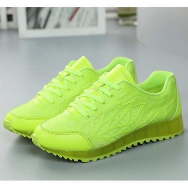 Female Fashion Summer Casual Lace-up Rubber Flat Shoes Green