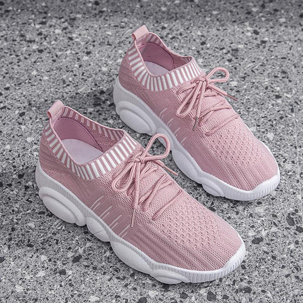 Light Weight Summer Wear Sports Sneakers - Pink
