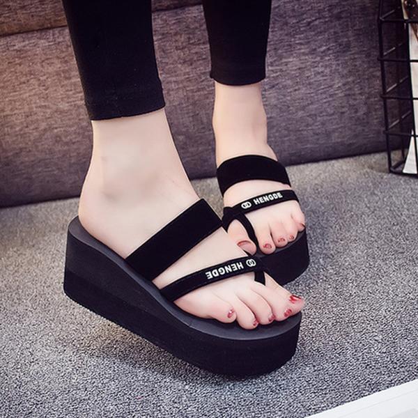 Thick Bottom Cross Strap Platform Sandals