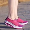 Ladies Breathable Shaking Net Rubber Shoes Hot Pink