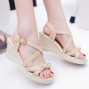Khaki Canvas Strappy Thick Bottom Sandals
