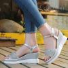 Glittered Heavy Bottom Strappy Sandals - Silver