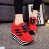 Thick Bottom Synthetic Leather Soft Casual Shoes - Red