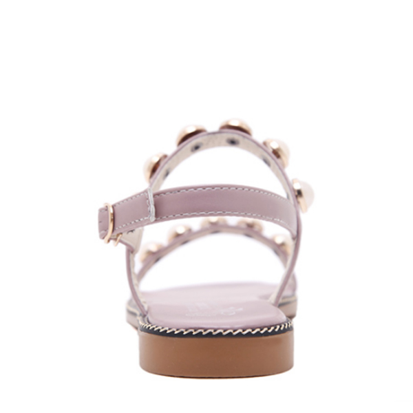 Pink Pearl Flat Party Wear Sandals