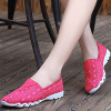 Breathable Net Yarn Casual Women Flat Shoes Hot Pink
