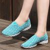 Breathable Net Yarn Casual Women Flat Shoes Sky Blue