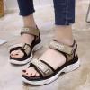 Khaki Medium Bottom Sports Casual Sandals