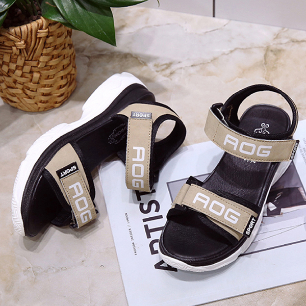 Khaki Medium Bottom Sports Casual Sandals