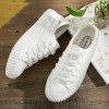 Comfy Flat White Canvas Quality Sneakers