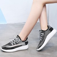 Soft Base Mesh Contrast Summer Sports Sneakers - Black
