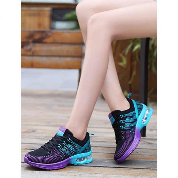 Flying Sports Air Damping Women Running Travel Shoes Black