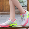 Flying Sports Air Damping Women Running Travel Shoes Gray