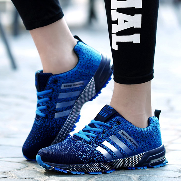 Casual Summer Light Breathable Fashionable Blue Sneakers