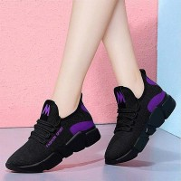 Breathable Non-slip Lace-up Casual Women Sneaker - Purple
