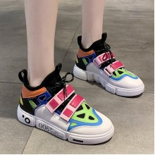 Color Combination Casual Sport Wear Sneakers - Black