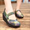 Multicolor Medium Heel Hand Woven Sandals