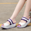 Female Summer Slippers Casual Fashion White And Purple