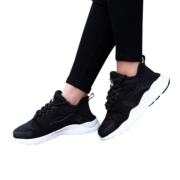 Casual Sports Women Breathable Running Shoes Black