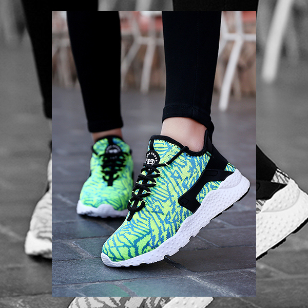 Casual Sports Women Breathable Running Shoes Green