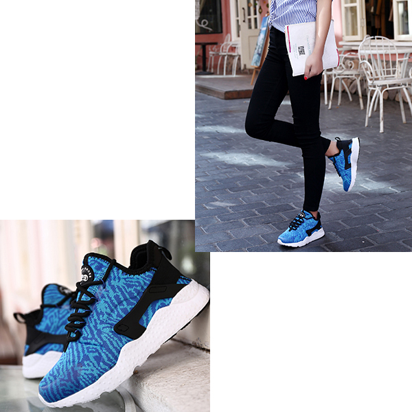 Casual Sports Women Breathable Running Shoes Royal Blue