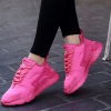 Casual Sports Women Breathable Running Shoes Rose Red